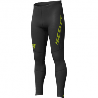 Scott RC Run Full  Tights Black-Yellow Herren