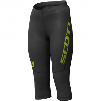 Scott RC Run  3/4 Tights Black / Yellow Damen