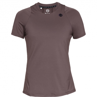 Under Armour UA Rush Short Sleeve  T-Shirt Ash Taupe / Black Herren