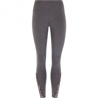 Mandala Lace Leggings  Tights Grey Damen
