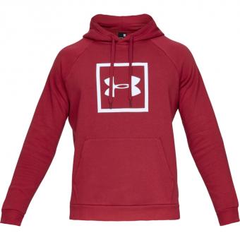 Under Armour UA Rival Fleece Logo  Hoodie Red Herren