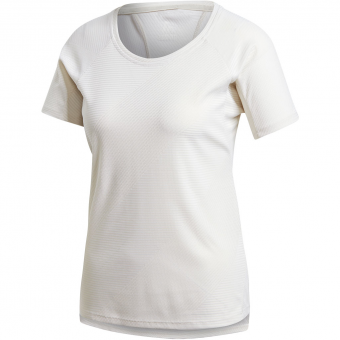 Adidas Jacquard  T-Shirt Raw White Damen