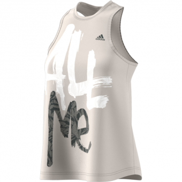 Adidas Statement   Tank Top Raw White Damen