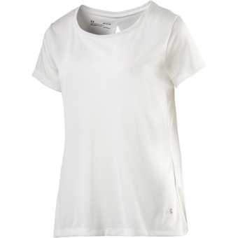 Under Armour UA Whisperlight Short Sleeve Foldover   T-Shirt White Damen