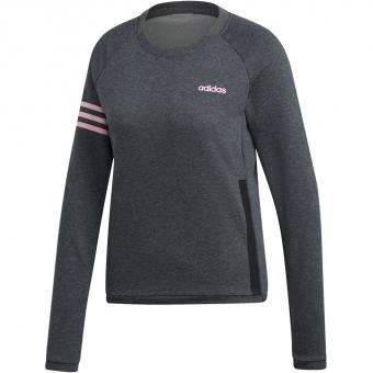 Adidas Essentials Season Motion  Pullover Dark Grey Heather / True Pink Women