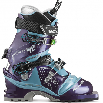 Scarpa T2 Eco   Telemark Boots Bourgogne/Polar Blue Women