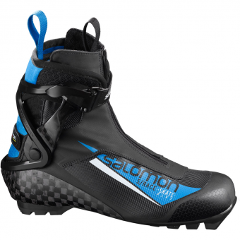 Salomon SRace Plus Pilot SNS Skating Schuh Black Blue Herren