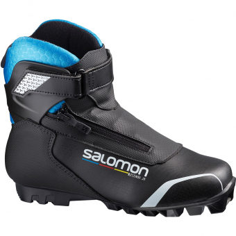 Salomon R/Combi Jr SNS  Classic/Skating Schuh Black / Blue Kinder