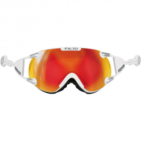 Casco FX 70 Carbonic  Ski-/Snowboardbrille Weiss / Orange