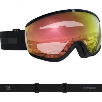Salomon Ivy Photo SIGMA Ski Snowboardbrille Black All Weather Poppy Red Damen