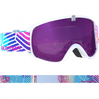 Salomon Trigger  Ski-/Snowboardbrille White Lotus / Universal Ruby Kinder