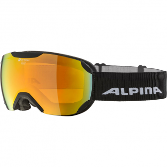 TIEFSCHNEETAGE NEW ITEM Alpina Pheos S QMM Goggle Black Matt Mirror Red Women