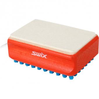 Swix T0166B F4 Nylon/Filz Kombi Bürste   Service Werkzeug