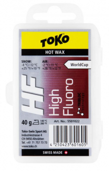 Toko HF Hot   Glide Wax Red