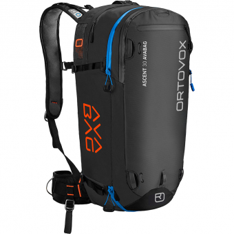 Ortovox Ascent 30 Avabag  Avalanche Backpack (without Cartridge) Black / Anthracite