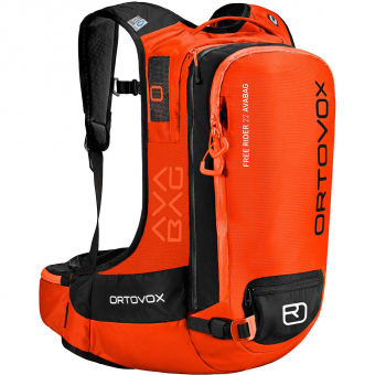 Ortovox Free Rider 22 Avabag (ohne Kartusche)   Lawinenrucksack Crazy Orange