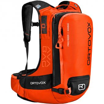TIEFSCHNEETAGE TESTARTIKEL  Ortovox Free Rider 20 S Avabag  Lawinenrucksack (ohne Kartusche) Crazy Orange