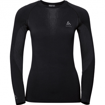 Odlo Performance Warm  Funktionsshirt Lang Black Damen