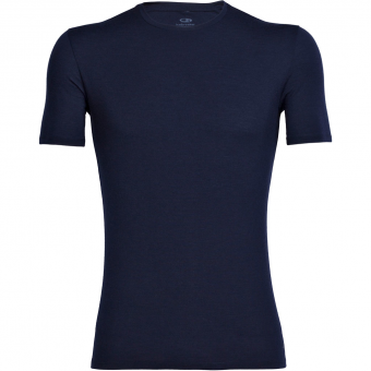 Icebreaker Anatomica Crewe  Shortsleeve Midnight Navy Men