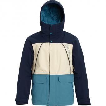 Burton Breach   Snowboardjacke Dress Blue / Almond Milk / Storm Blue Herren