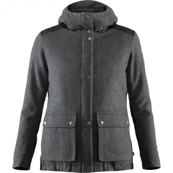 Fjällräven Greenland Re-Wool  Jacket Grey Women