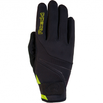 Roeckl Lillby Soft Shell  Fingerhandschuh Black / Yellow
