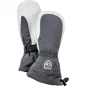 Hestra Heli Ski Female Mitt  Fausthandschuh Grey / Offwhite Damen