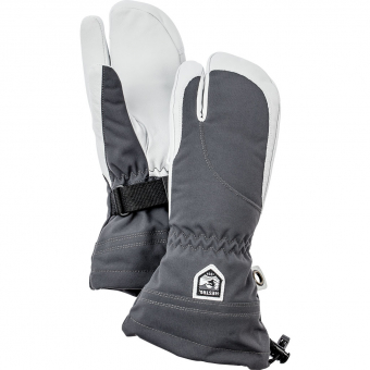 Hestra Heli Ski Female  3-Fingerhandschuh Grau / Weiss Damen
