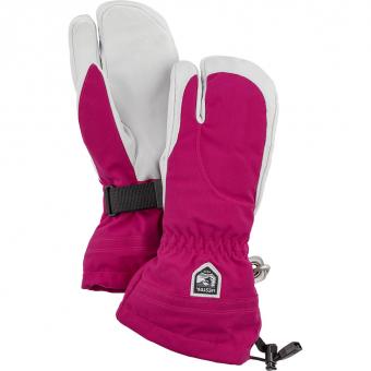 Hestra Heli Ski Female  3-Fingerhandschuh Fuchsia / Offwhite Damen