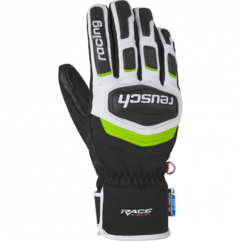 Reusch Race Training R-Tex®XT  Fingerhandschuh Black / White / Neon Green