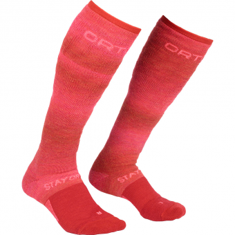 Ortovox Stay or Go   Skiing Socks Hot Coral Women