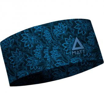 Matt Thermo  Stirnband Floral Blue