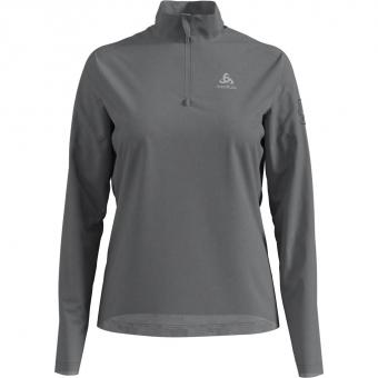 Odlo Pillon Half Zip  Skishirt Grey Melange Damen