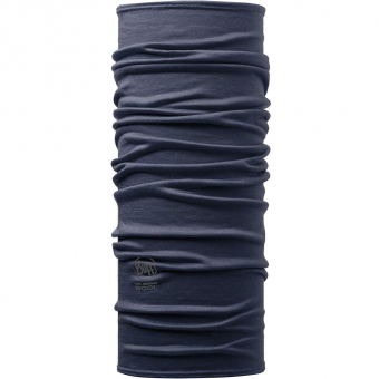 Buff Lightweight Merino Wool  Neckwarmer Solid Denim Regular