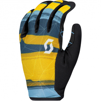 Scott Traction LF  Bikehandschuh lang Ochre Yellow / Blue