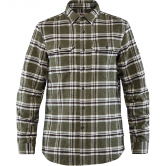 Fjällräven Övik Heavy Flannel  Shirt Deep Forest Men