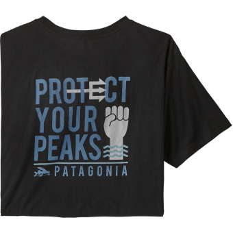 Patagonia Protect Your Peaks Organic  T-Shirt Black Men