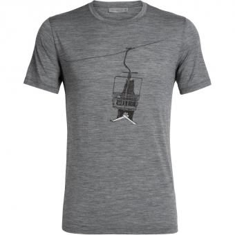 Icebreaker Tech Lite SS Crewe Bear Lift  T-Shirt Gritstone HTHR Men