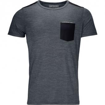 Ortovox 120 Cool Tec  T-Shirt Black Steel Blend Herren