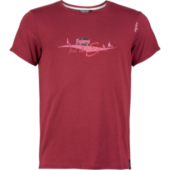Chillaz Feel The Spirit  T-Shirt Dark Red Herren