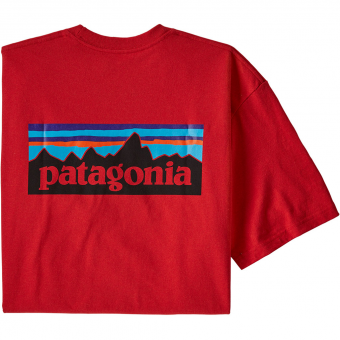 Patagonia P-6 Logo Responsibili  T-Shirt Fire Men