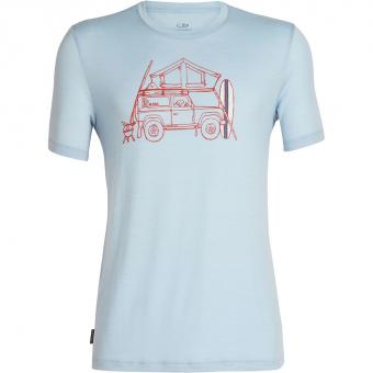 Icebreaker Tech Lite Crewe  T-Shirt Surfspot Camper / Sky Herren