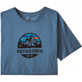 Patagonia Fitz Roy Scope Organic  T-Shirt Woolly Blue Men