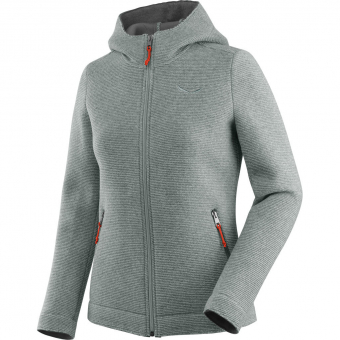 Silver Women Wool Zip Jacket Sarner Salewa Fleece Full 2l ED9H2ebWYI