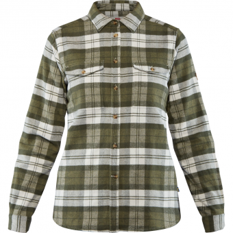 Fjällräven Övik Heavy Flannel  Shirt Green Women