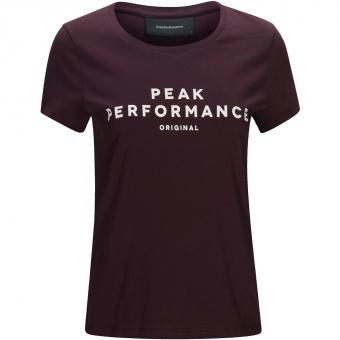 Peak Performance Original  T-Shirt Mahogany Women