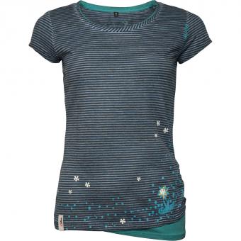 Chillaz Fancy Little Dot  T-Shirt Indigo Blue Stripes Washed Women
