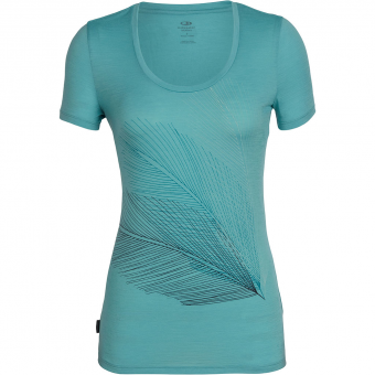Icebreaker Tech Lite Scoop Plume  T-Shirt Ocean Women