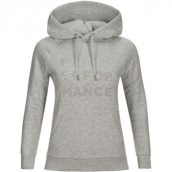 Peak Performance Ground  Hoodie Med Grey Melange Damen