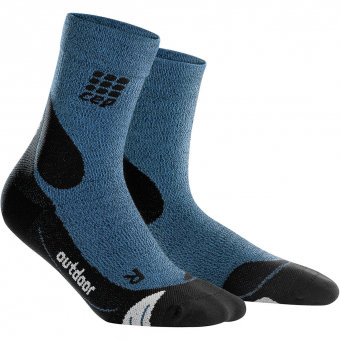 CEP Outdoor Merino Mid Cut  Socks Desert Sky / Black Men